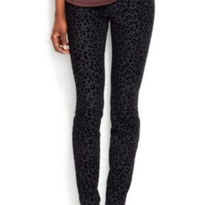 Rachel Roy animal print skinny jeans • size 27